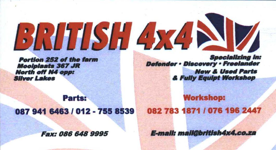 British 4x4 LR Spares