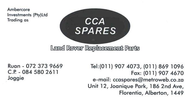 CCA LR Spares